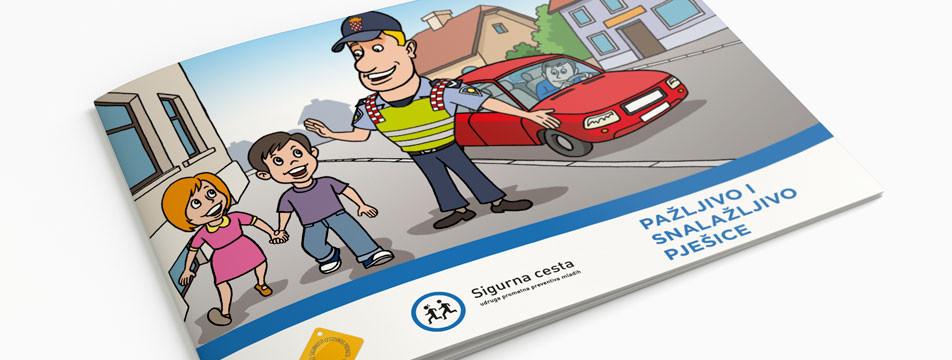 UPRAVO IZIŠLO IZ TISKA: Slikovnica PAŽLJIVO I SNALAŽLJIVO PJEŠICE – Djeca pješaci u prometu