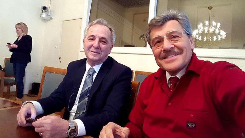 Predstavnik Udruge Sigurna cesta mr.sc. Nenad Zuber i predstavnik Autokluba Siget iz Zagreba, gospodin Marinko Bošnjak, dipl.ing.